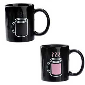 Coffee Mug Temperature Changing Pink Hot Cold Mug