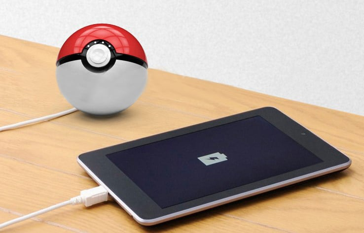 Pokemon Go Pokeball 12000mah USB Power Bank Battery Charger
