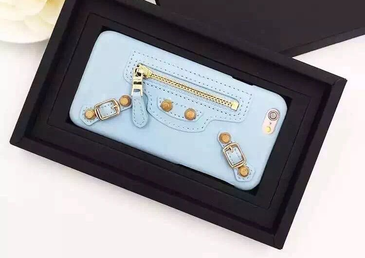 Balenciaga Leather iPhone 6 6s Plus Case - Baby Blue