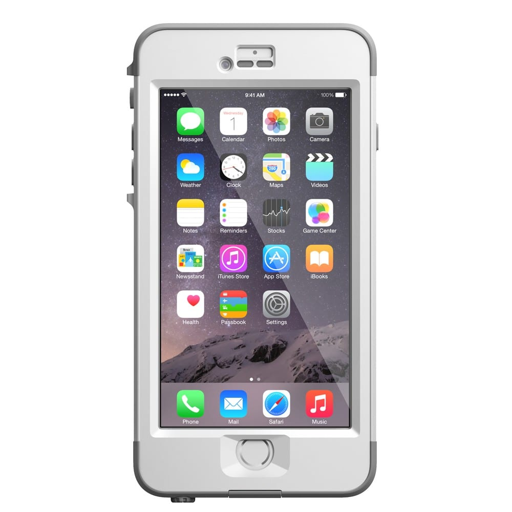 Lifeproof nüüd iPhone 6 Plus Waterproof Case White / Gray