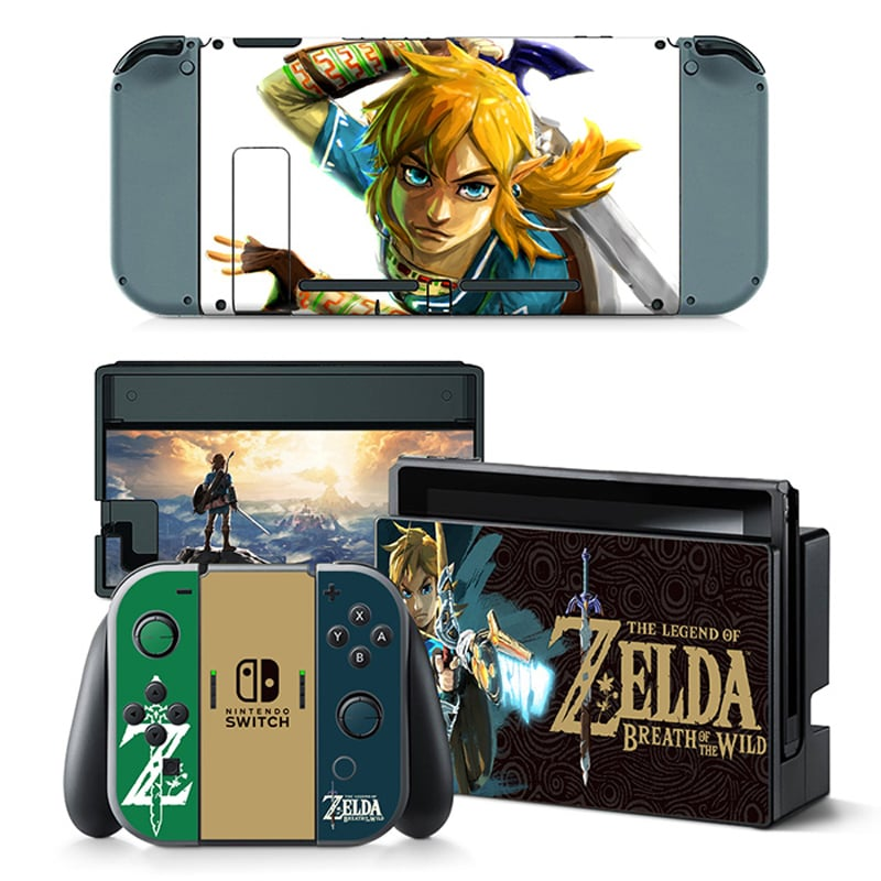 Link Zelda Breath of the Wild Decal Set for Nintendo Switch