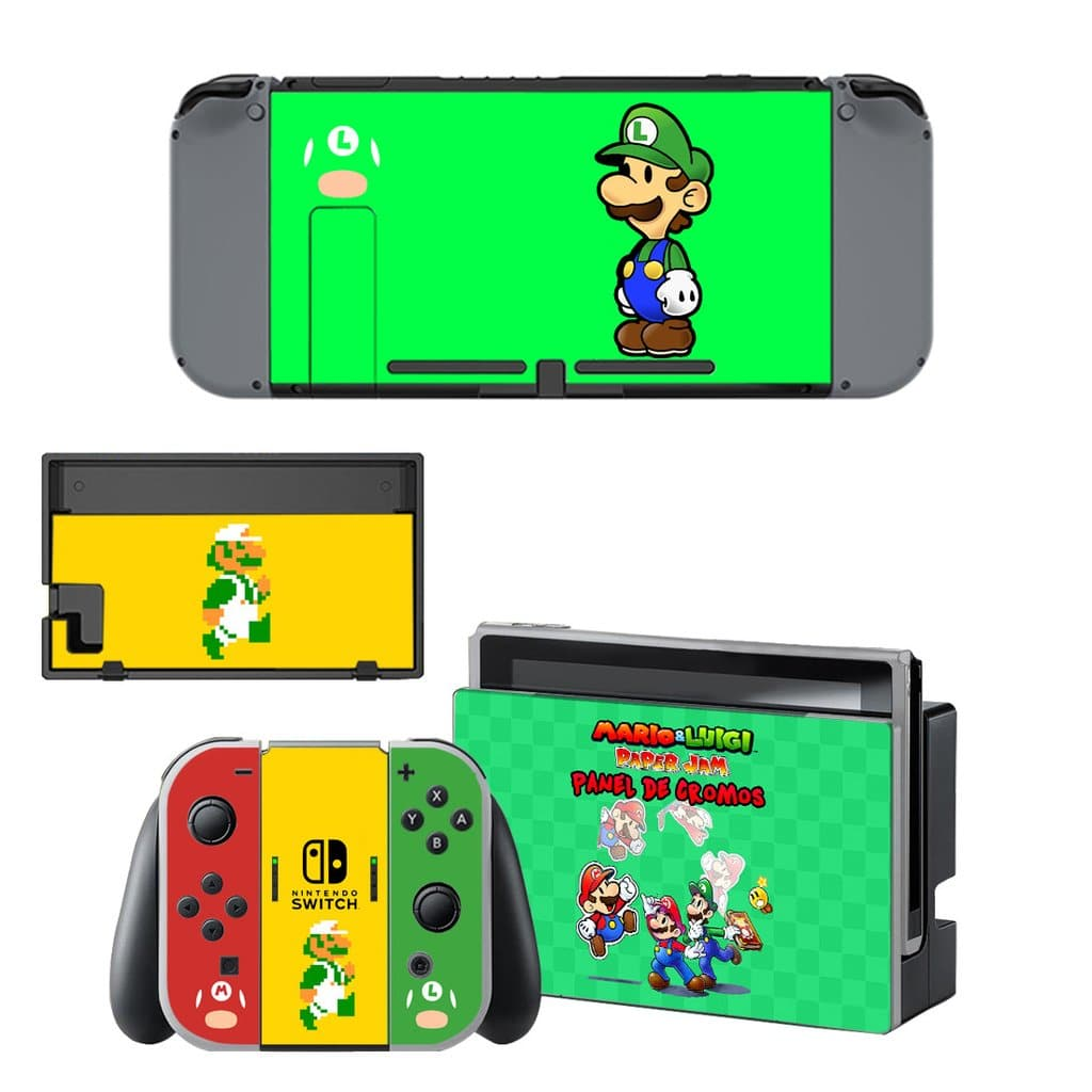 Mario and Luigi Decal Set for Nintendo Switch