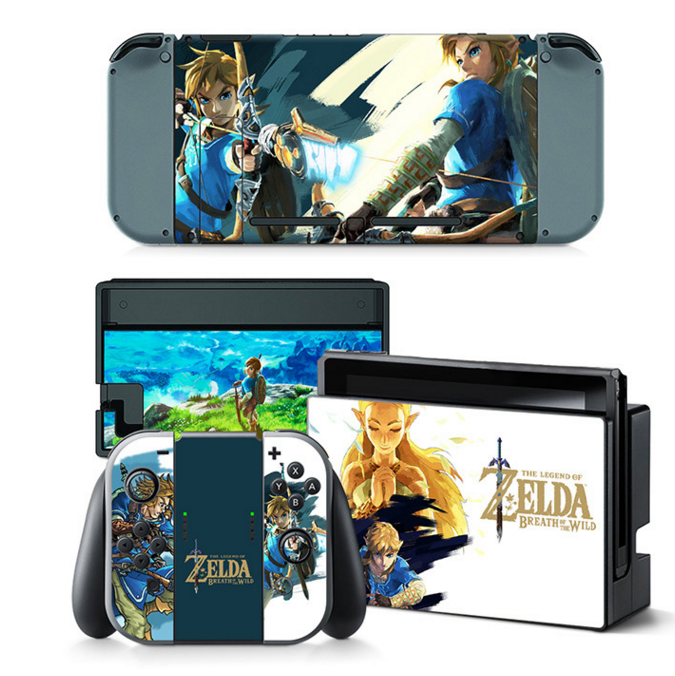 Zelda Breath of the Wild Decal Set for Nintendo Switch
