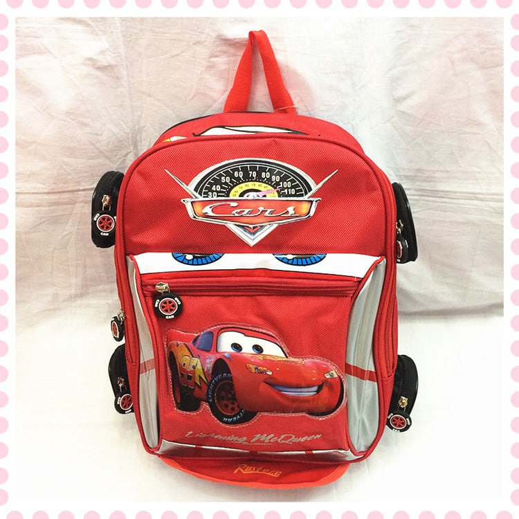 Cars Kids Backpack With Wheels