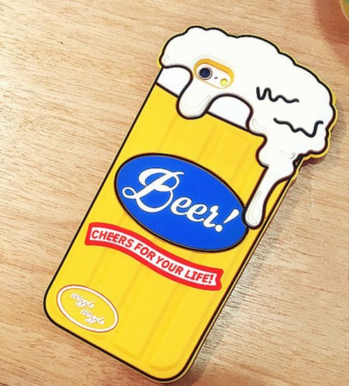 Beer Glass Shaped Silicone Case for iPhone 6 6s Plus