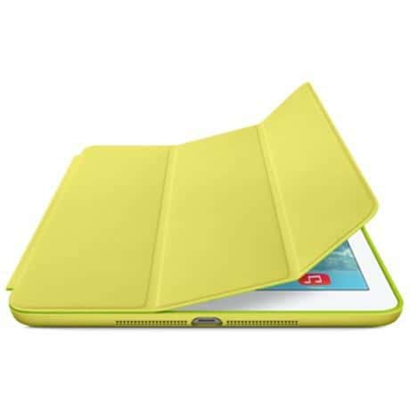 Yellow Leather Smart Case for iPad 9.7 Inch 5th Gen