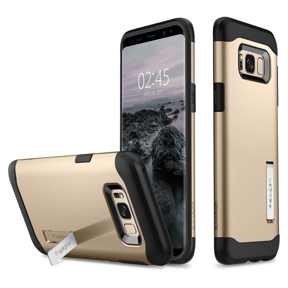 Spigen Galaxy S8+ S8 Plus Case Slim Armor Gold Maple