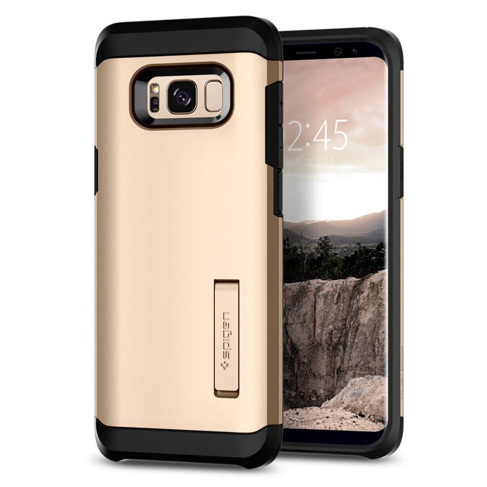 Spigen Galaxy S8+ Plus Case Tough Armor Gold Maple