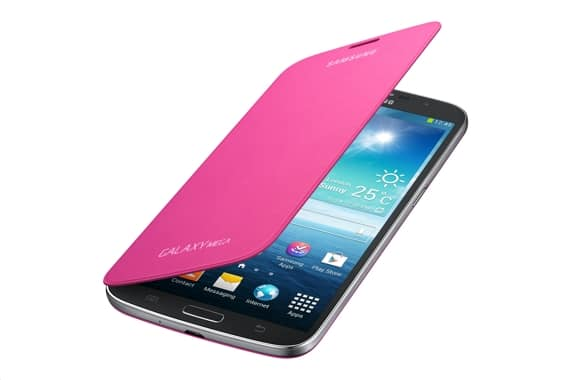 Samsung Flip Cover Case Pink for Galaxy Mega 6.3