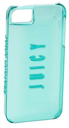 Juicy Couture Case for iPhone 5 5s SE 3D Gemstone Sea Jade