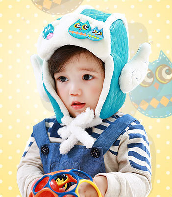 LemonKid Cute Owl Fleece Biker Pilot Style Hat Angel Wings Ear...