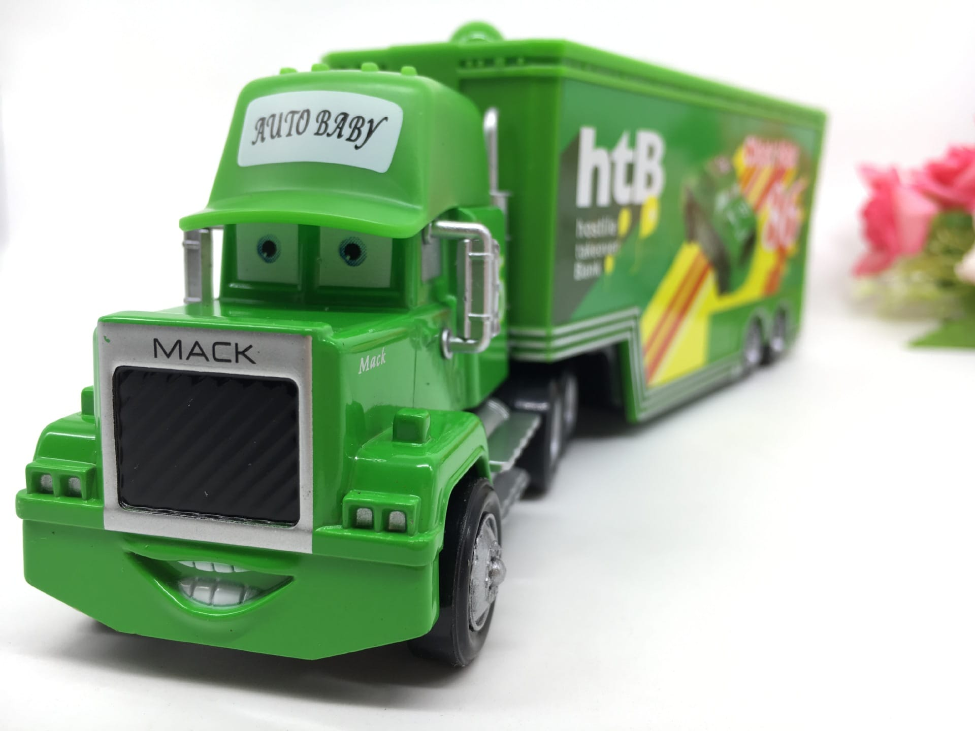 Disney Pixar Cars Toy Mack Truck Playset, Chick Hick (Auto Baby)