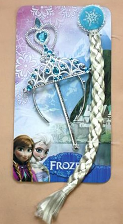 Frozen Princess Elsa Crown Wand Hair Extension