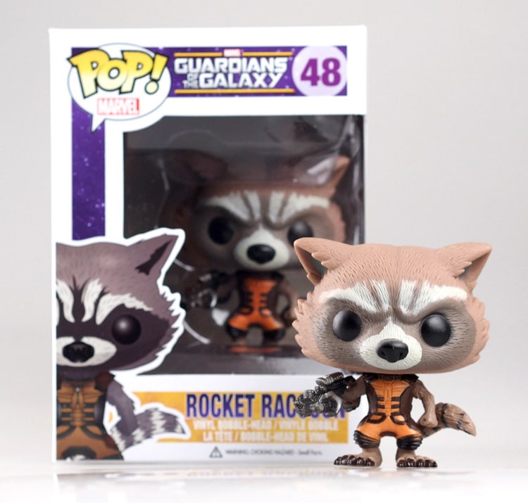 Funko POP! Marvel: Rocket Racoon Bobble Action Figure