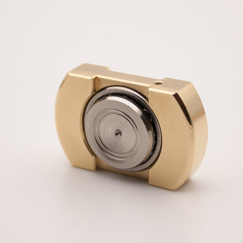 Vorso Machine Finished Flat Top V1 Fidget Spinner - Brass