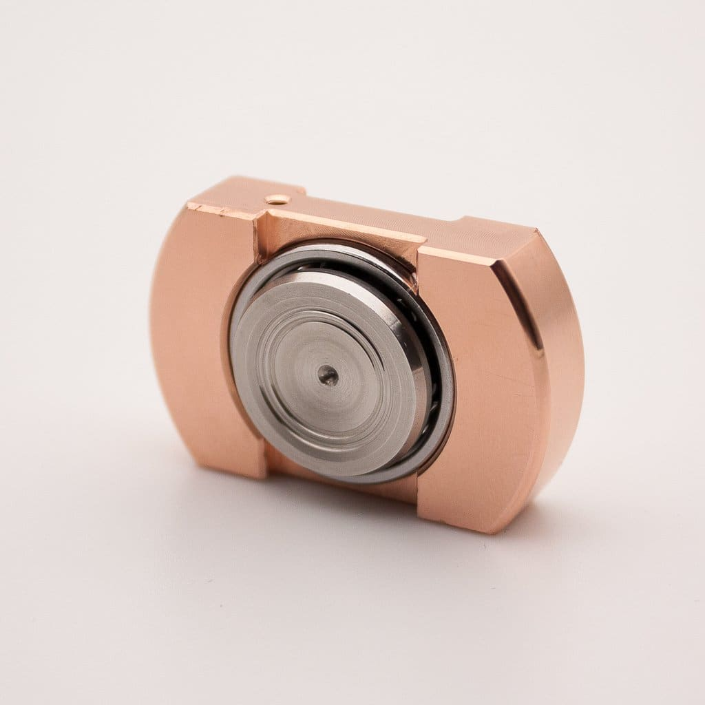 Vorso Machine Finished Flat Top V1 Fidget Spinner - Copper