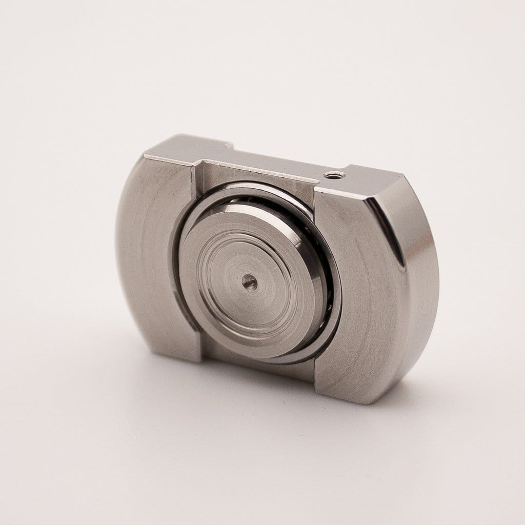 Vorso Machine Finished Flat Top V1 Fidget Spinner - Stainless
