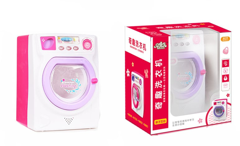 Little Treasures Baby Home Miniature Pretend Washing Machine Playset