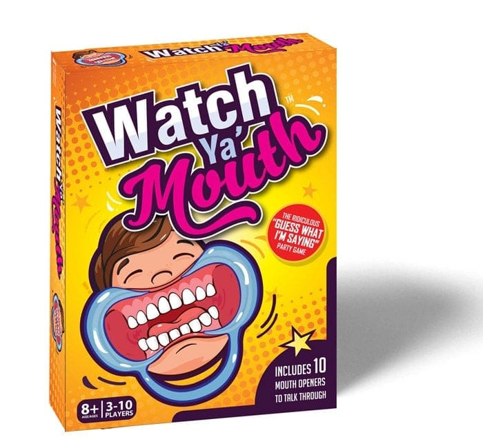 Watch Ya Mouth Family Edition Mouth Guard Party Game