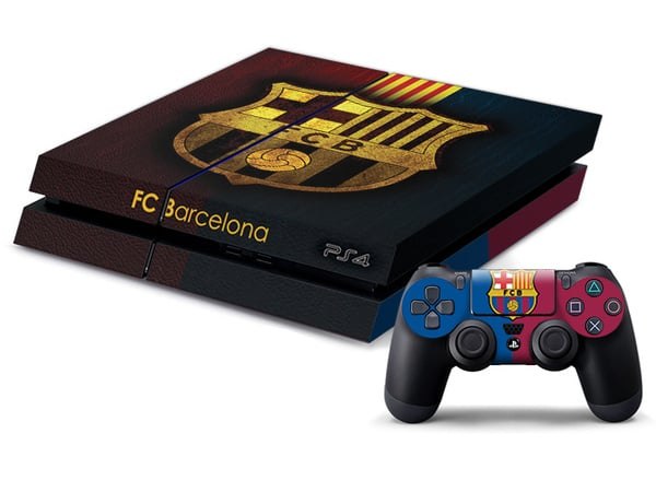 PS4 FC Barcelona Decal Skin for Console and Controller