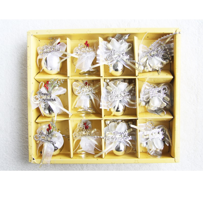 Elegant 12 Pc Christmas Bulb and Bell Set