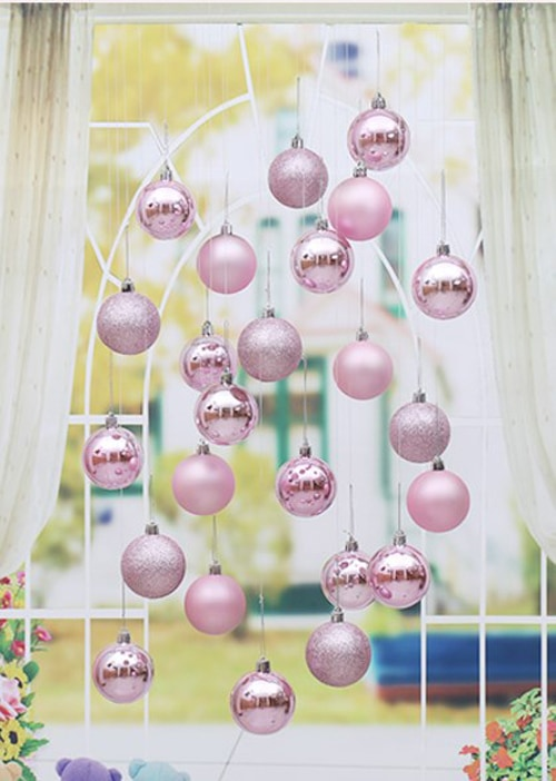 Decorative Christmas Bulbs Pack of 24