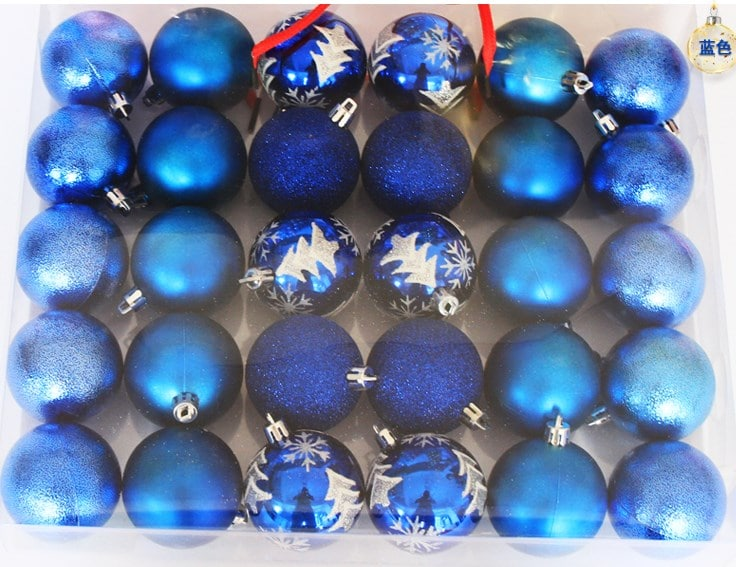 Shatterproof Christmas Bulbs Pack of 30 Pcs
