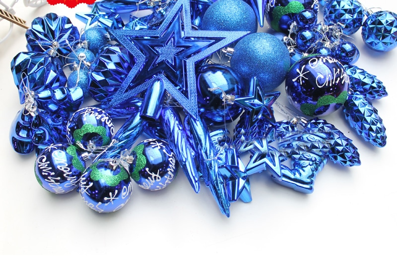 Complete 80 Pcs Christmas Tree Decoration Set With Star, Bulbs,...