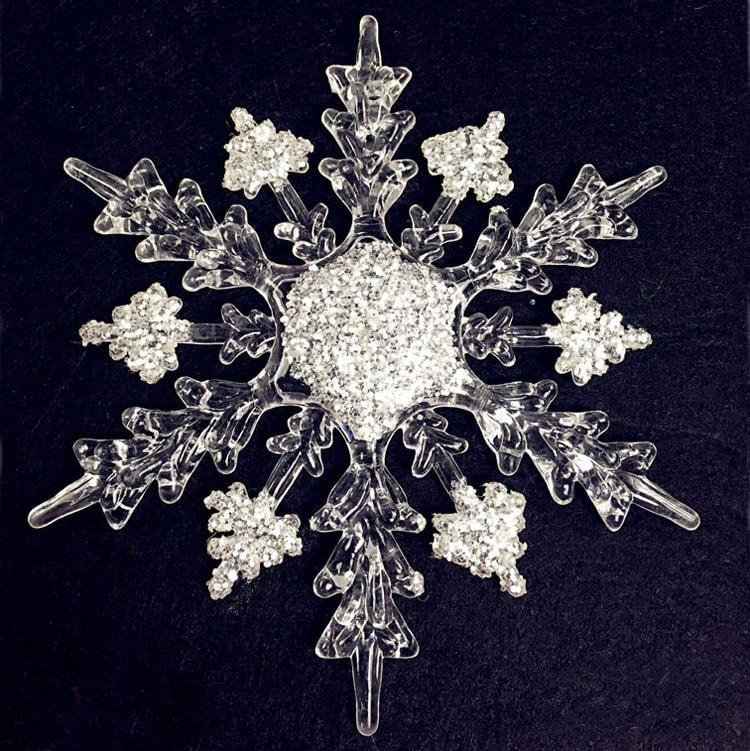 Elegant Christmas Tree Ornaments - 4-6 Inch Snowflake 11-16cm