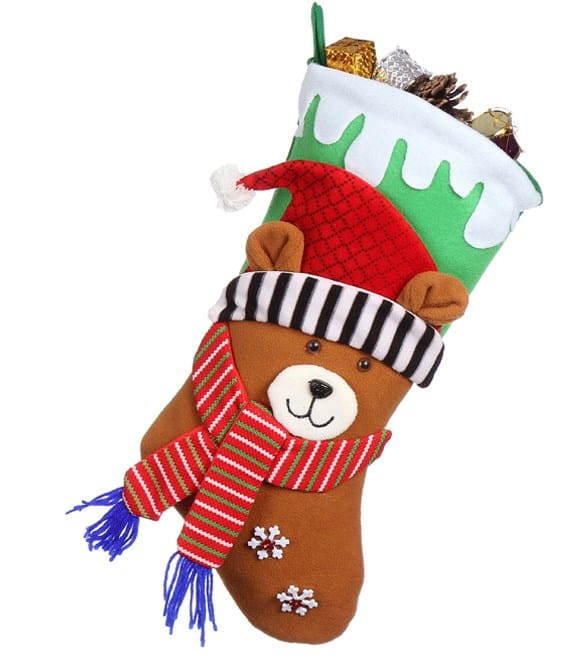 Christmas Stocking High Quality Fabric - Pack of 6