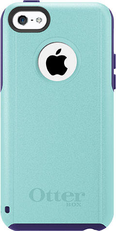 iPhone 5C Otterbox Commuter Series Case Aqua Violet Purple