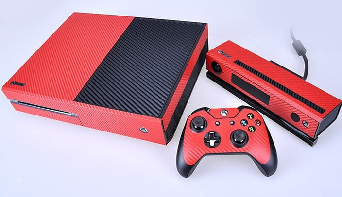 Red Carbon Fiber Decal Set for Xbox One and Controller